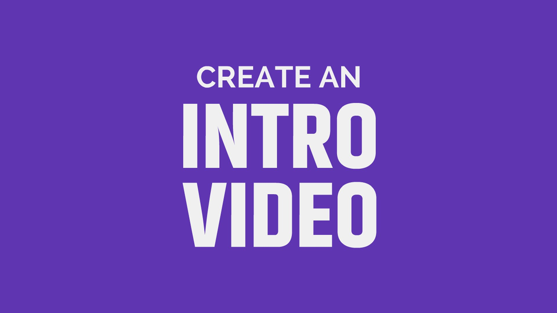 Free Video Intro Maker No Design Experience Required